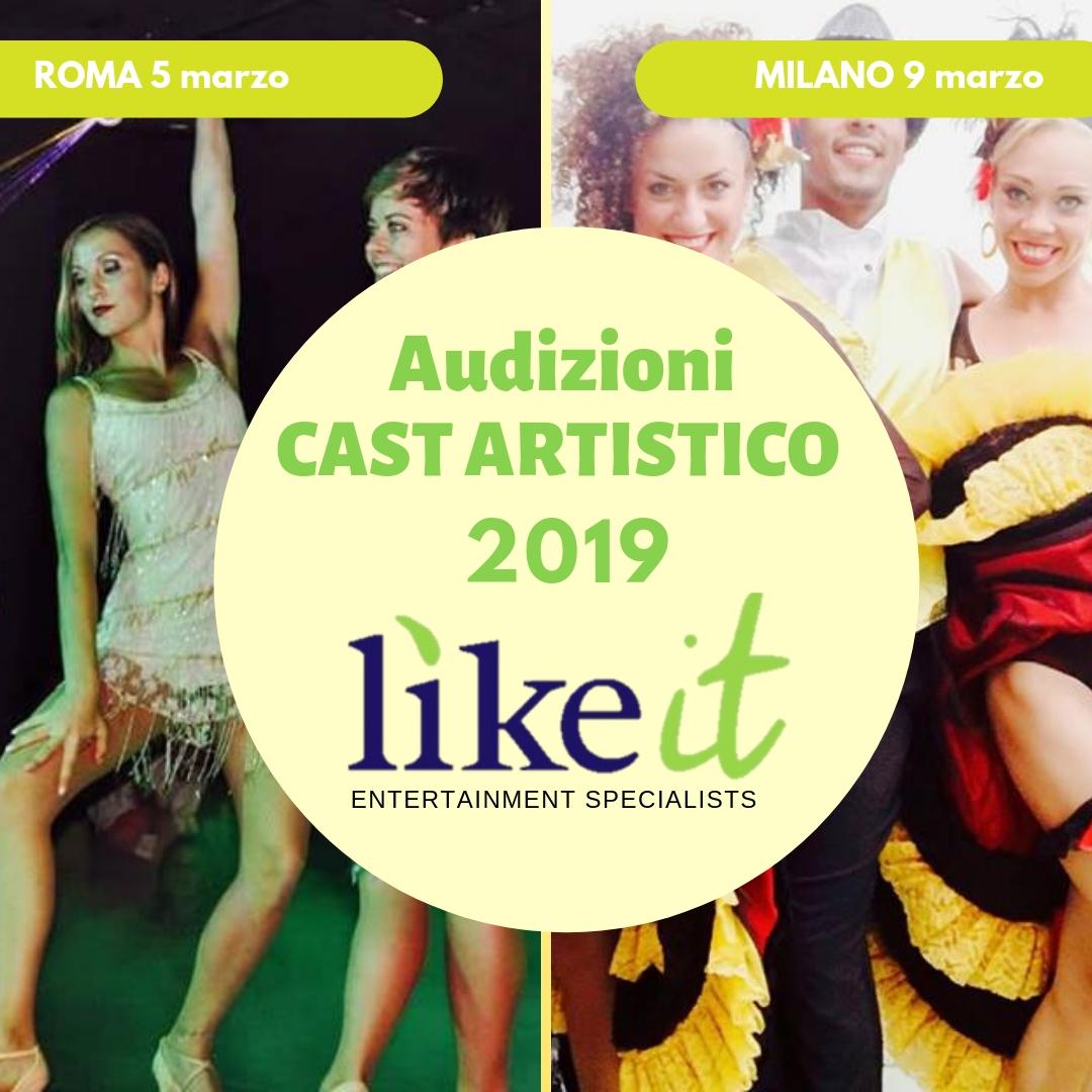 AUDIZIONI CAST ARTISTICO ESTATE 2019