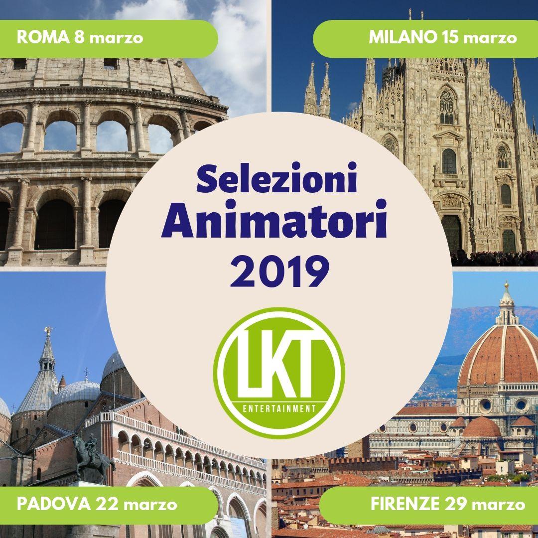 COLLOQUI DI SELEZIONE ESTATE 2019